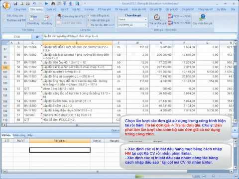 Phan mem du toan Escon 2012 - Nhap tu Excel, ghep tien luong