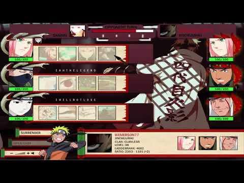 Naruto-Arena - Leveling To Jin.
