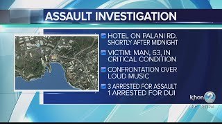 Big Island police arrest four people for assault in Kona