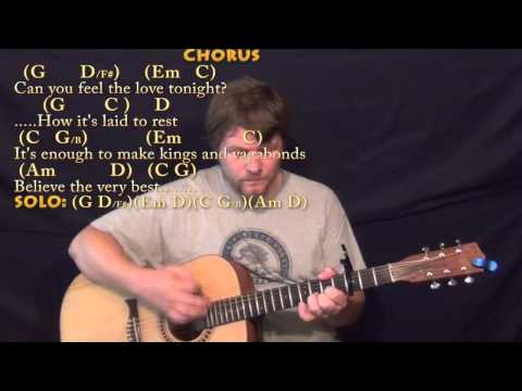 Can You Feel The Love Tonight - Strum Guitar Cover Lesson With Chords/Lyrics - Capo 3rd