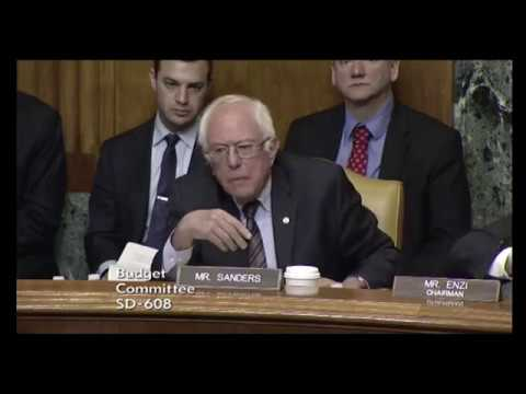 Sanders argues with Mulvaney in budget hearing