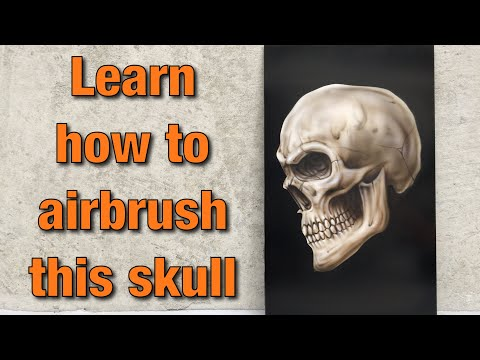 ⚫️ Raw - Airbrushing a simple skull.