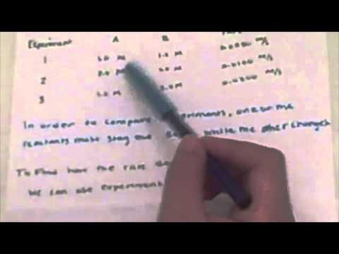 Experiment 4: Chemical Kinetics- Part 2: The Iodine Clock Reaction
