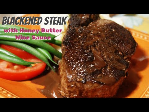 Blackened Steaks with Wine Sauce