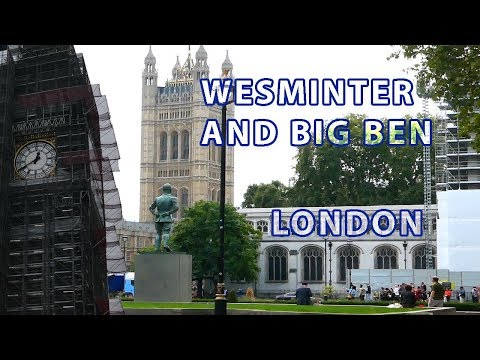 Walk from Buckingham Palace to Wesminter and Big Ben, London, England