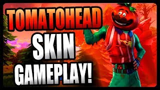 "NEW ""TOMATOHEAD"" SKIN GAMEPLAY in Fortnite Battle Royale!"