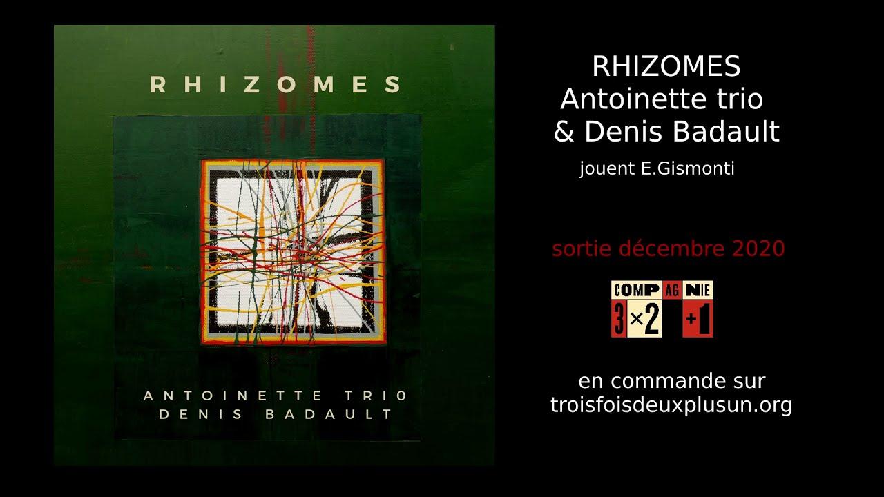 Rhizomes : Antoinette trio & Denis Badault - Sortie du disque