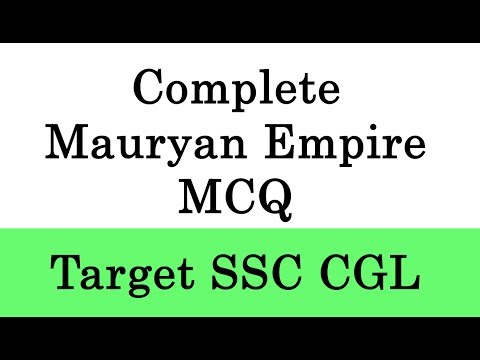 Complete Mauryan Empire MCQ with Explaination