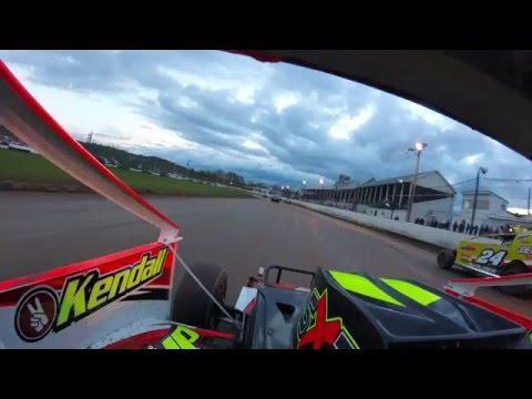 Scott Huber Fonda Speedway Heat1 5-7-2016