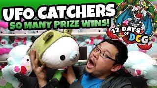 Winning HUGE PLUSH on Round 1 UFO Catchers, and Giving Them Away! | 12 Days of DCG Marathon!