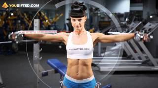 Фитнес. Тренировка плеч.(Ольга Климова показывает упражнение на плечи. Больше видео с тренерами по фитнесу на канале: http://www.youtube.com/you..., 2011-08-18T07:12:01.000Z)