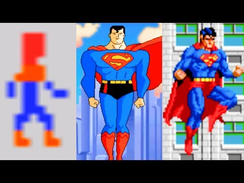 Evolution of Superman Video Games (1979-2011) 4k Ultra HD 2160p