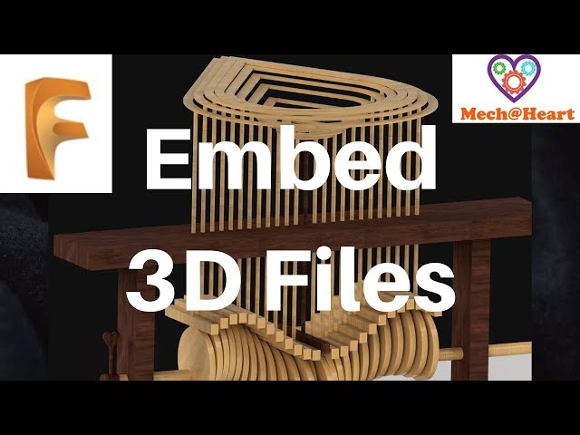 Embed Autodesk files - 3d viewer- Mechatheart Fusion 360 Tutorials