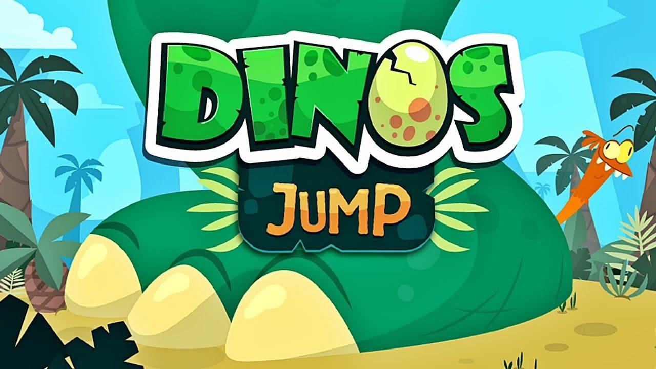 Dinos Jump 🐉 Dinosaur Game App for Kids - YouTube