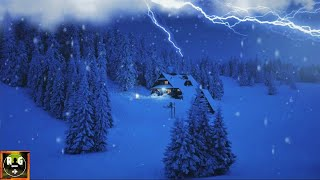 Winter Thunderstorm Sounds: Lightning & Thunder, Howling Wind & Snow Rain for Sleep, Study, Insomnia
