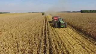 L&R Rusch Farms corn harvest 2016