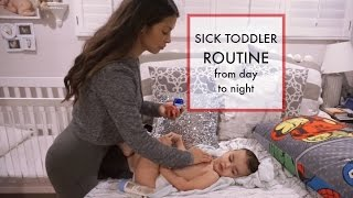 A DAY IN THE LIFE OF A SINGLE MOM | Sick Toddler Routine vlog