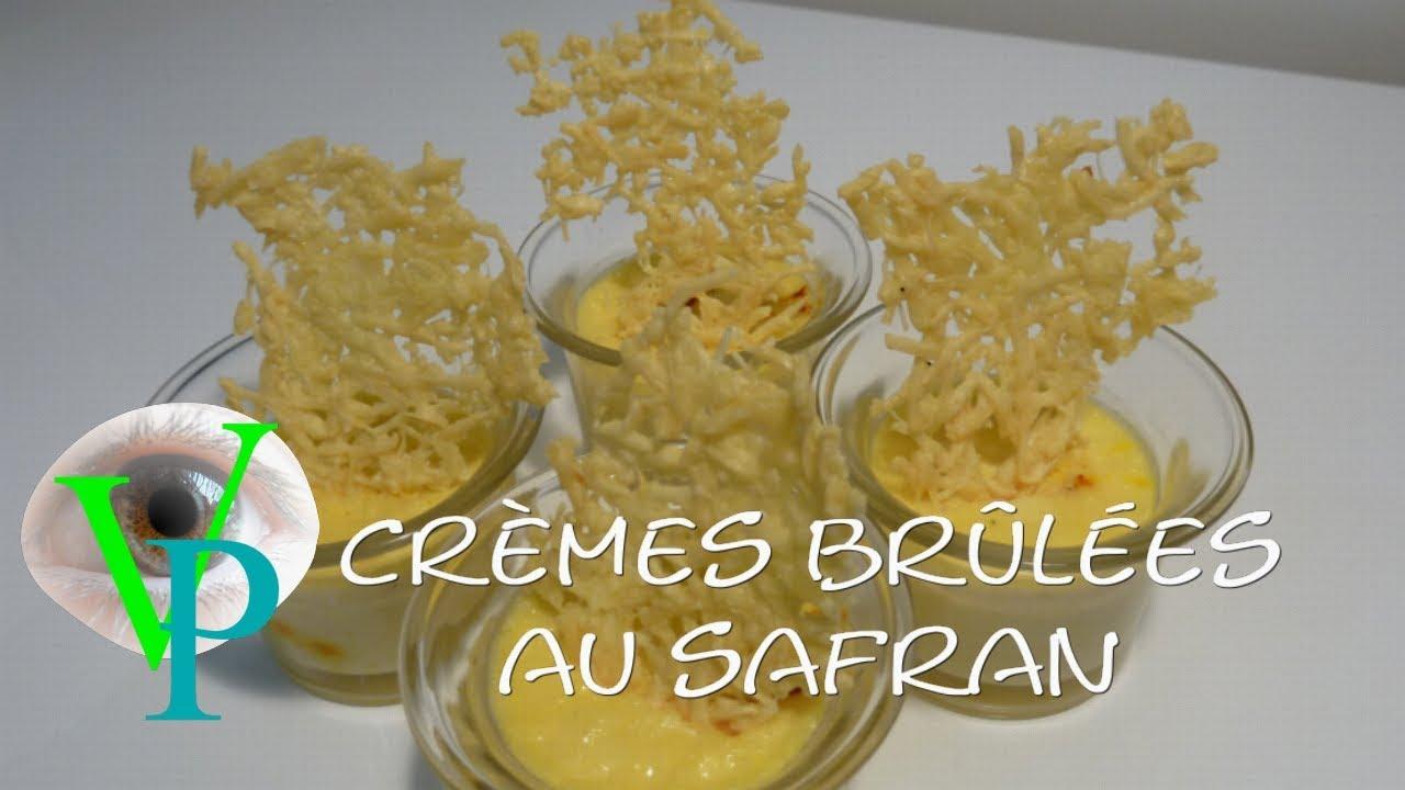 Petites crèmes brûlées au safran