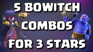 5 TOP BOWITCH TROOP COMBOS FOR 3 STARS W/ SIEGE MACHINE | Mister Clash