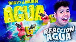 (REACCIÓN) Tainy, J Balvin - Agua (Music From Sponge On The Run Movie/Official Lyrics)