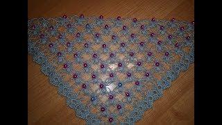 Шаль, с красивым узором. № 1 -  Идея для вязания шали крючком.