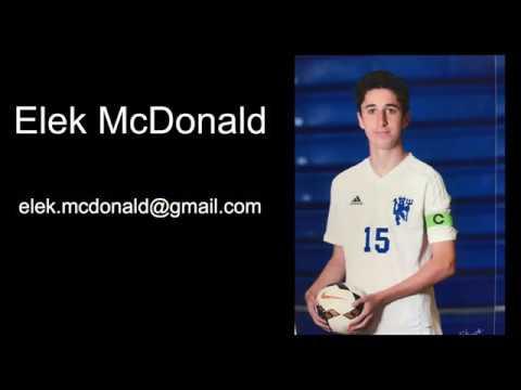 Elek McDonald High School Soccer Highlights (Sophomore/Junior)