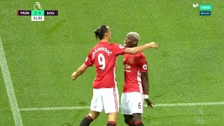 Paul Pogba vs Southampton Home (Manchester United 2nd Debut) HD 1080i (19/08/2016)