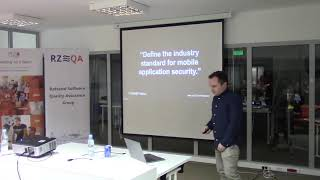 """""""Bezpieczeństwo aplikacji mobilnych iOS & Android"""" - Mateusz Nicpoń RzeQA #16"""