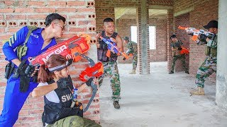 LTT Nerf War : Special Police Warriors Nerf Guns SEAL X Fight Criminal Group By Mega Nerf Guns
