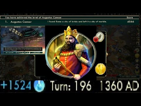Fastest Science Victory Civ 5 - Turn 196 - 1360 AD Deity