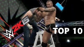 Top 10 Ways to Use a Ladder - WWE 2K15