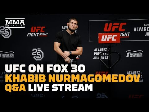 Khabib Nurmagomedov Q&A at UFC Calgary Live Stream - MMA Fighting