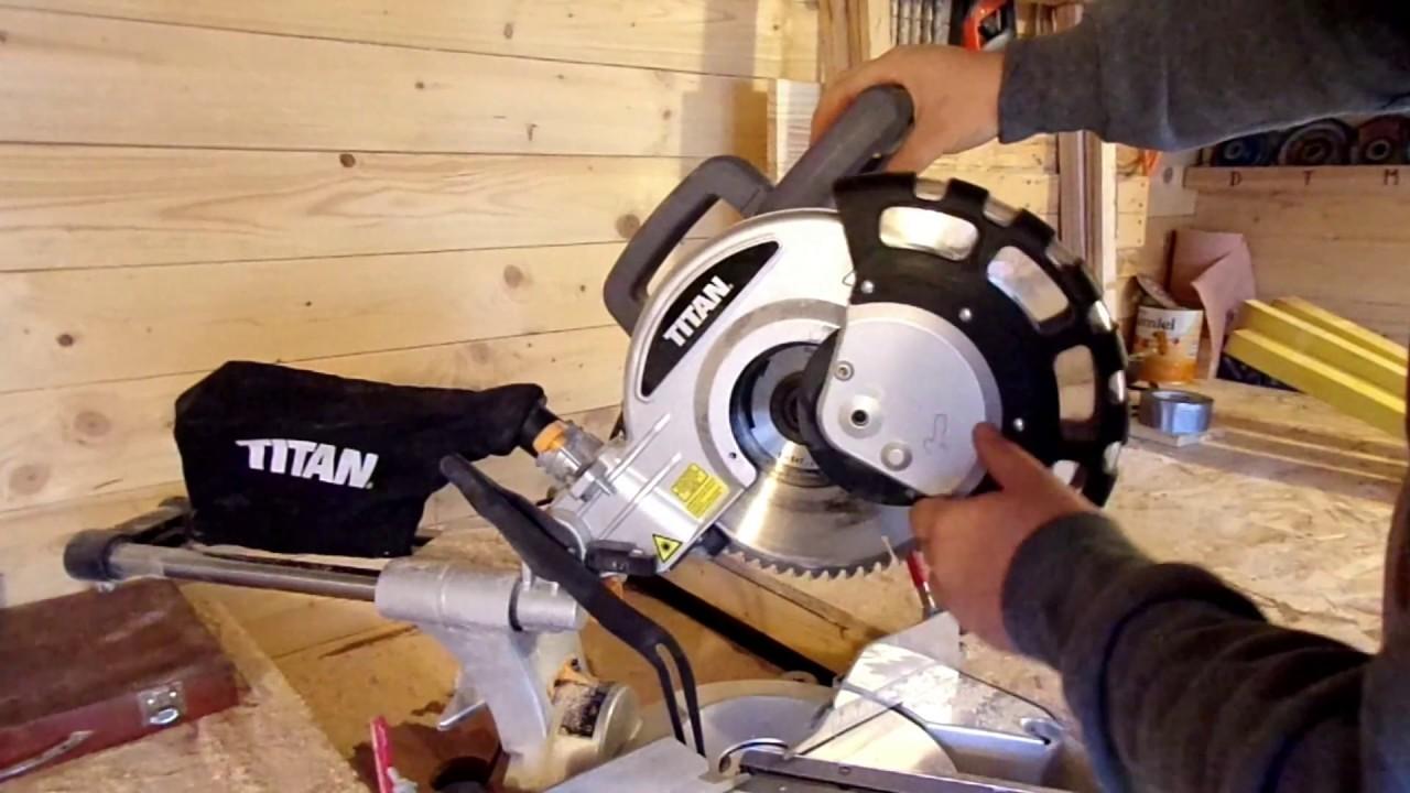 Test Et Avis De La Scie A Onglet Radiale 1 800 W Titan Video Non Sponsorisee Youtube