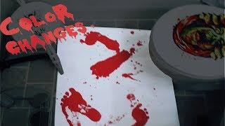 Кровавый коврик для ванной (blood bath mat)