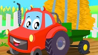 Tractor Song | Little Red Car Cartoons  By Kids Channel