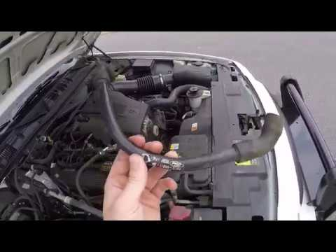 Crown Victoria PCV hose replacement - YouTube