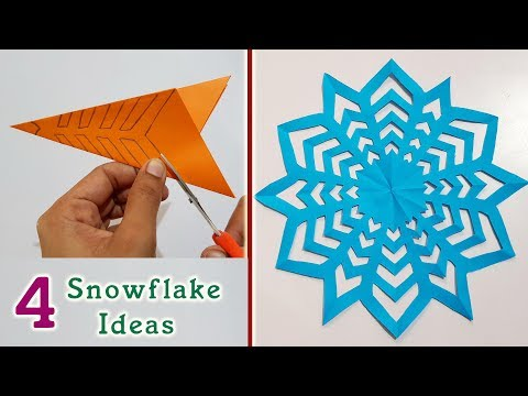 4 Snowflake Ideas || Paper craft & Decoration ideas