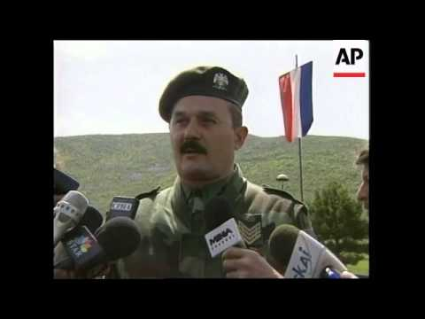 KOSOVO: YUGOSLAV SOLDIERS ON BORDER WITH ALBANIA