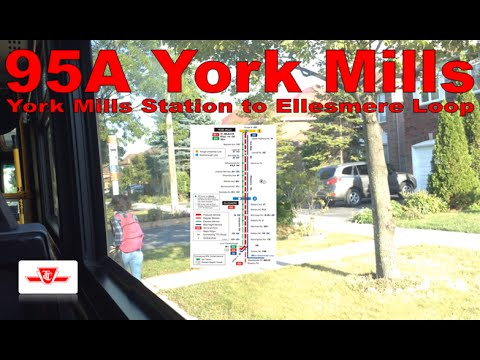 95A York Mills - TTC 2006 Orion VII HEV 1102 (York Mills Station to Ellesmere Loop)