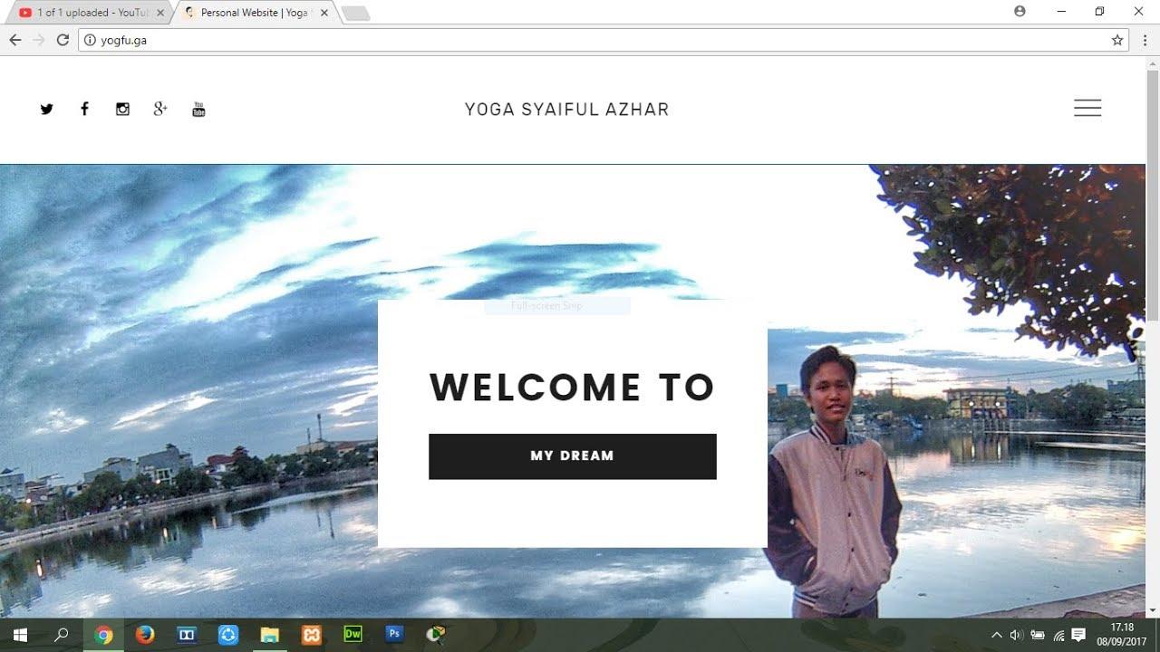 Cara Membuat Website Pribadi Dengan Mudah Dan Gratis Tanpa Coding Youtube