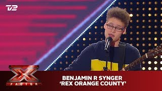 Benjamin R synger 'Untitled' - Rex Orange County (5 Chair Challenge) | X Factor 2019 | TV 2