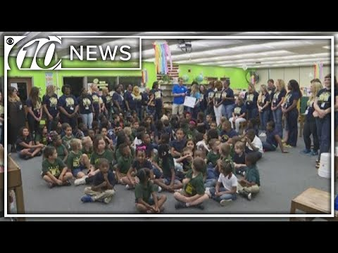 Duke Energy Florida presents check to Garner Elementary School