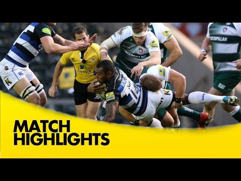 Leicester Tigers Vs Bath - Aviva Premiership 2015/16 | Rugby Video Highlights