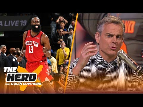 Colin Cowherd rebuffs claims that James Harden is the best offensive player ever | NBA | THE HERD