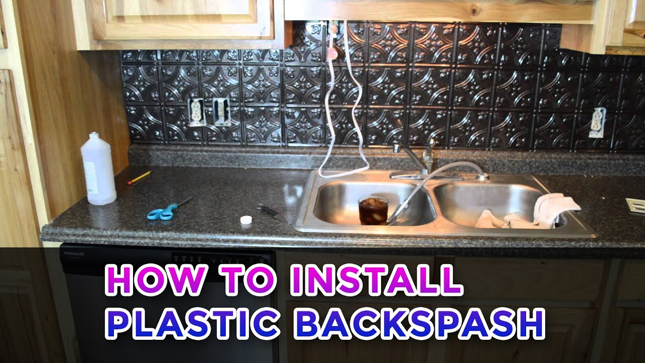 Kitchen Backsplash Sheets installing a plastic backsplash - youtube