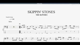 SKIPPIN' STONES 【THE BAWDIES】 ベースtab譜