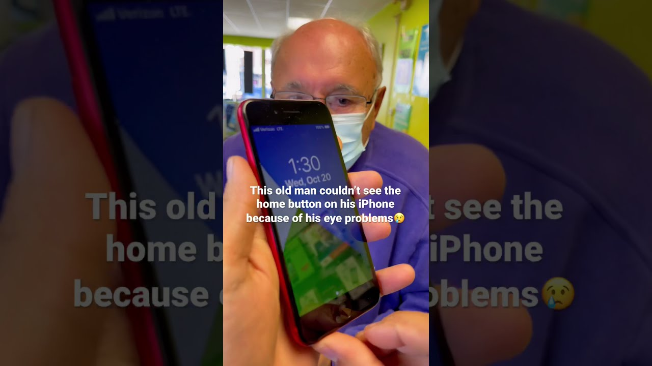 Old man couldn't see the bottom of his #iphone 😢 fix it with simple trick #shorts #apple #iphone13