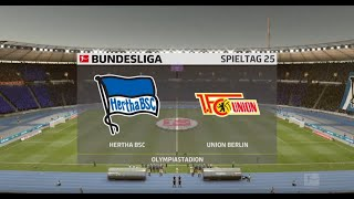 Hertha Bsc - 1.fc Union Berlin 27.spieltag Bundesliga 19/20