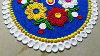 Very easy and quick rangoli using bangles | रंगोली डिज़ाइन | New Rangoli Kolam-