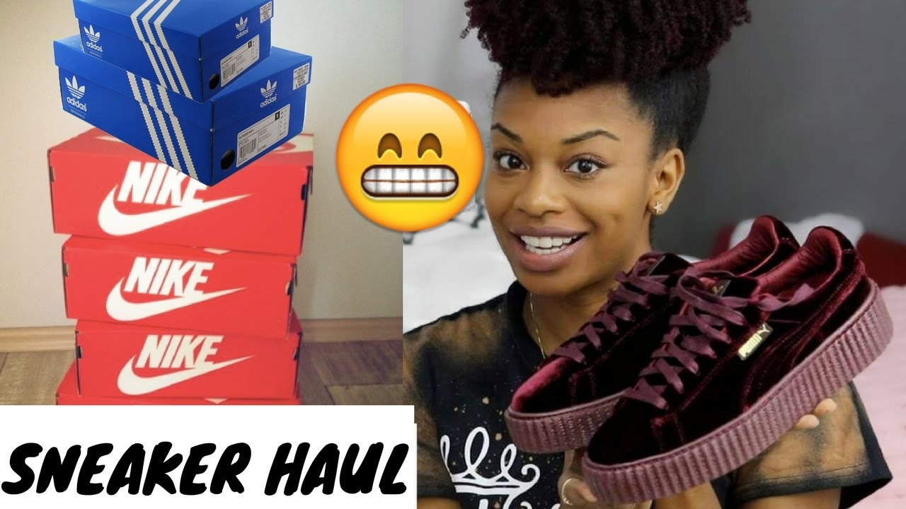 HUGE SNEAKER HAUL 2017 | Puma, Nike, Adidas, Converse Shoes